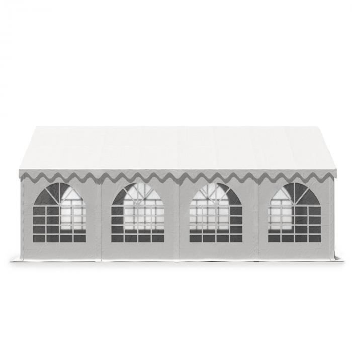 Sommerfest 4x8m500 g/m² juhlateltta PVC vesitiivis sinkitty valkoinen