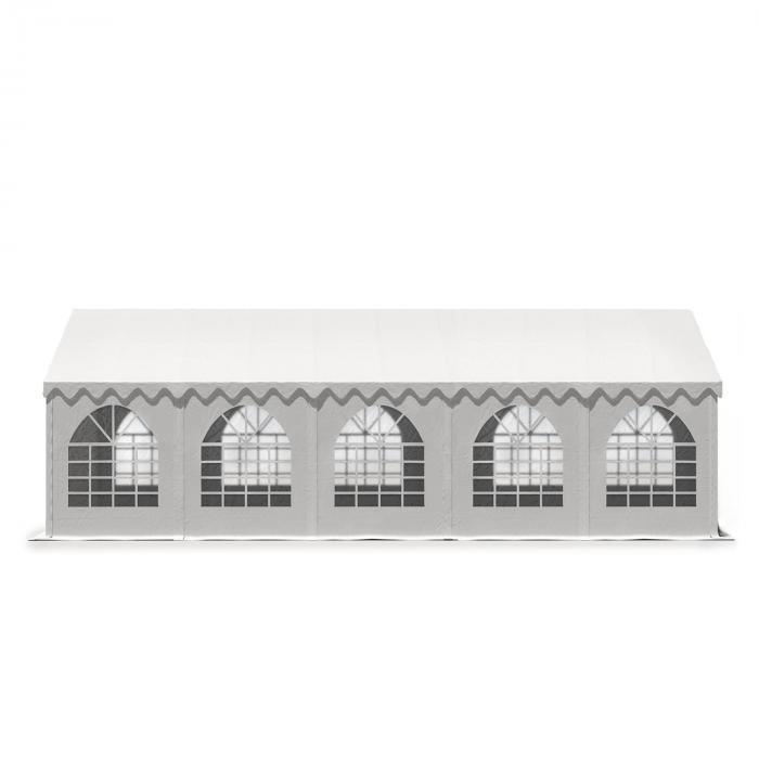 Sommerfest 5x10m500 g/m² juhlateltta PVC vaikeasti syttyvä valkoinen