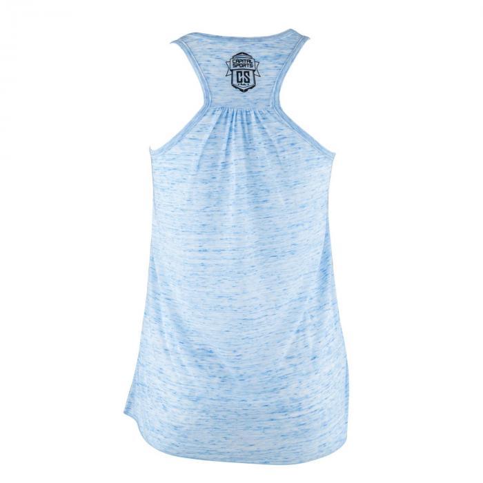Trainings-Top für Frauen Size M Blau marmoriert