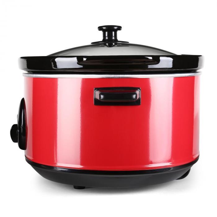 Bristol 65 Slow Cooker Schongarer 6,5 Liter 300W rot