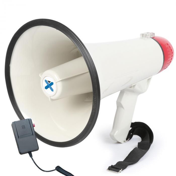 MEG040 Megafono 40W Funzione Registrazione Sirena Microfono A Batterie