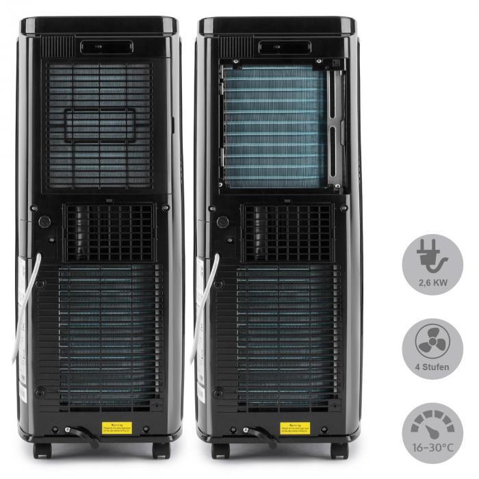 New Breeze 9 Klimaanlage 9000 BTU Klasse A Fernbedienung schwarz