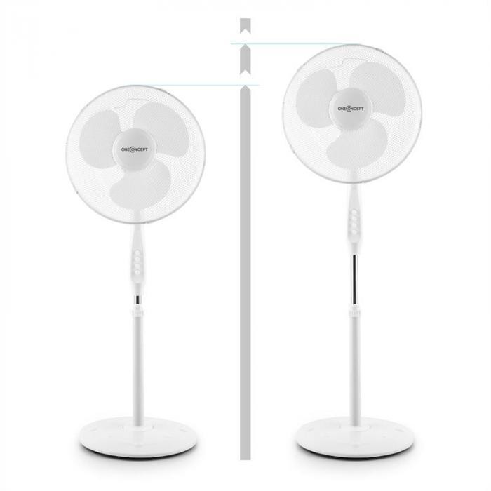 White Blizzard 2G Ventilatore A Piantana 50W 41 cm Bianco Set 2 Pezzi