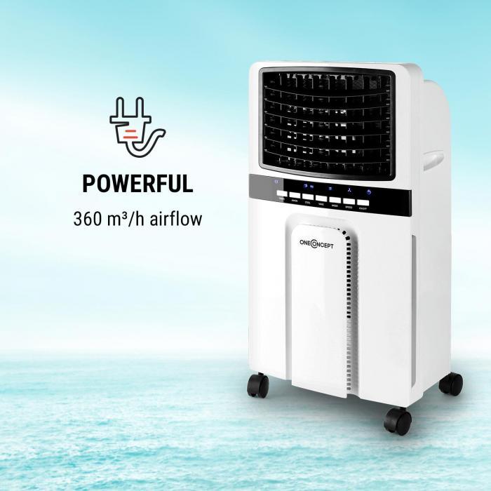 Condizionatore Portatile Ventilatore Telecomando Rinfrescatore 65W 360m³//h