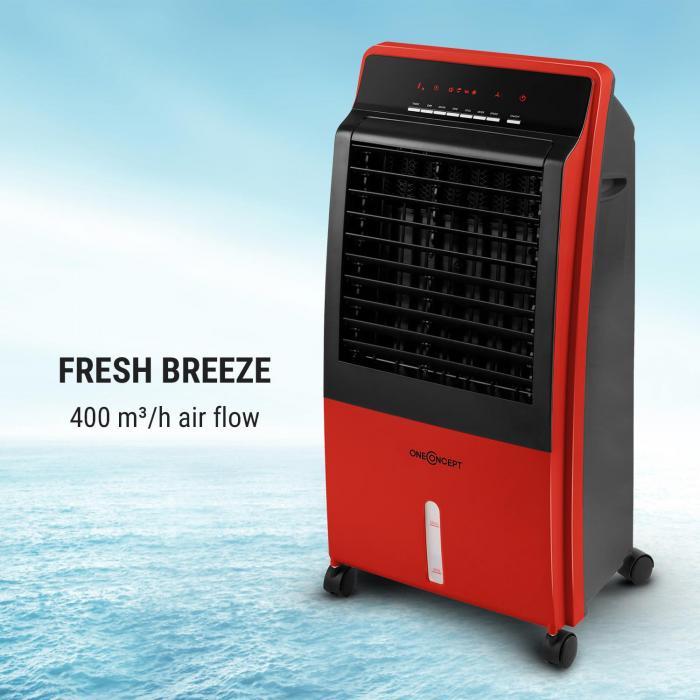 CTR-1 -jäähdytyslaite 4 in 1 tuuletin siirrettävä 65 W kaukosäädin punainen