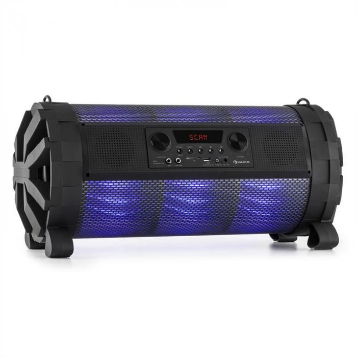 Thunderstorm Mobile Bluetooth Speaker 120W max Battery USB SD LED