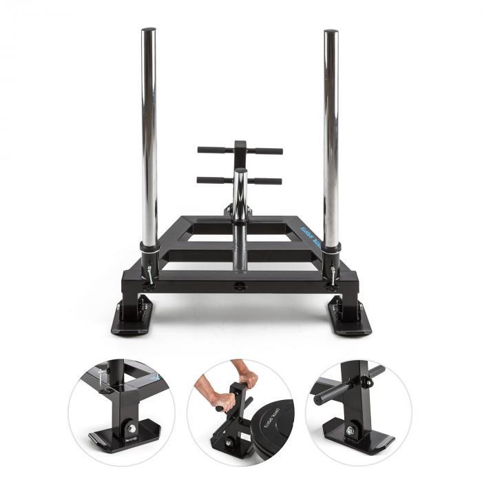 Tridentor Trenó de Musculação e Suporte de Placas de Peso Aço Maciço Ø50mm
