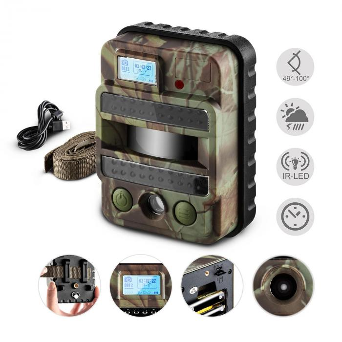 GRIZZLY MAX PIR Scouting Wildlife Camera 40 Black LEDs 8 MP HD USB SD 100°