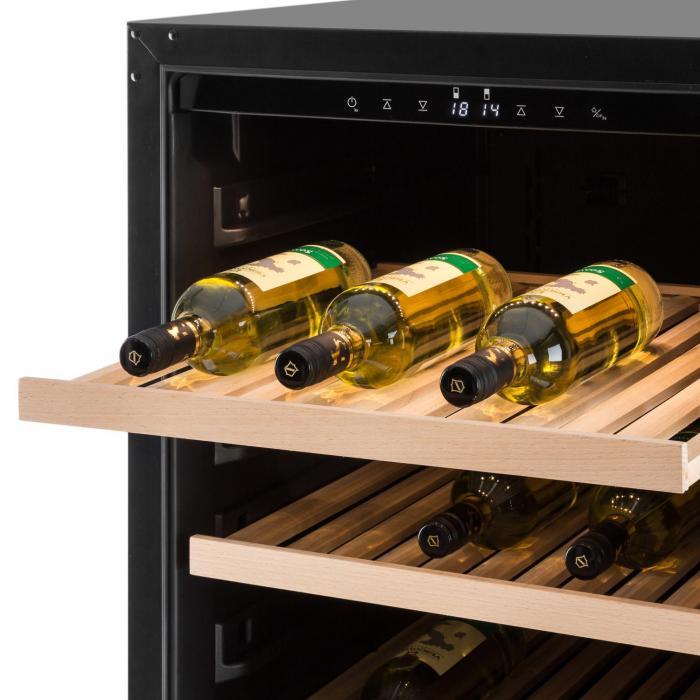 Botella 120S viinikaappi 270 l ruostumatonta terästä LED