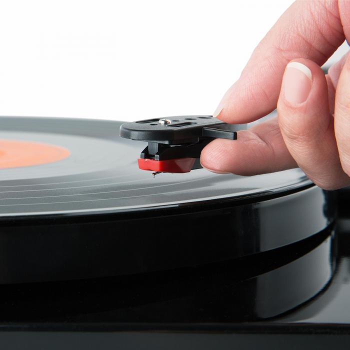 TT Classic BK Retro-Plattenspieler USB Line-Out Lautsprecher Piano-Schwarz