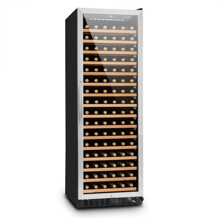 Botella 450 Weinkühlschrank 428 Liter 166 Weinflaschen Edelstahl LED