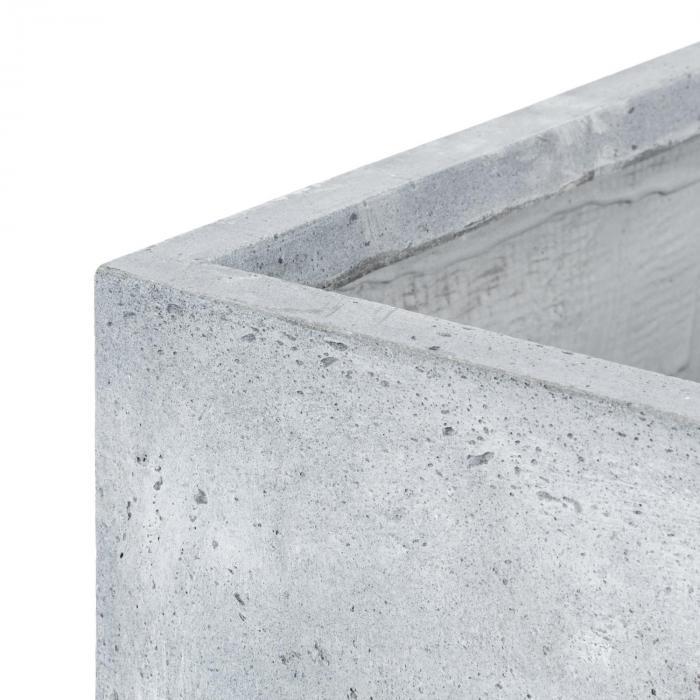Solidflor Pflanzkübel Pflanzgefäß 40x80x40 cm Fiberton hellgrau