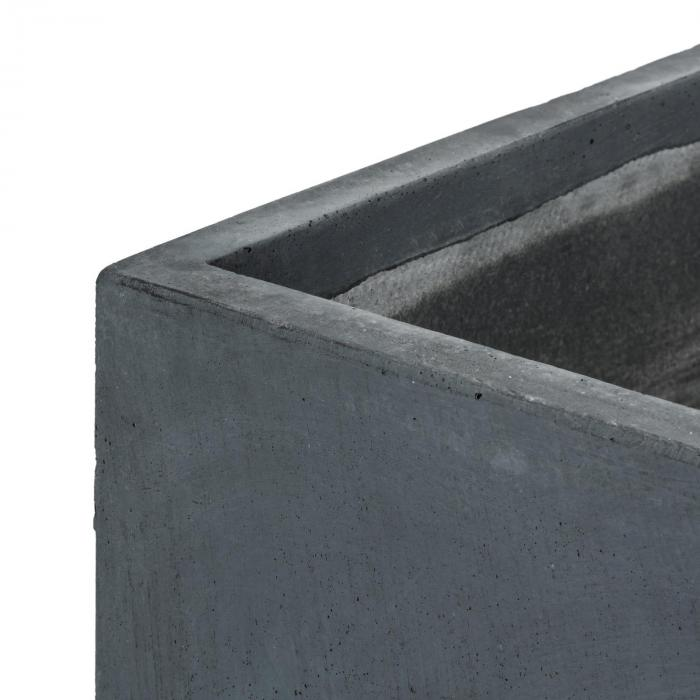 Solidflor kukkaruukku 79,5 x 38 x 38 cm kuitusavi antrasiitti