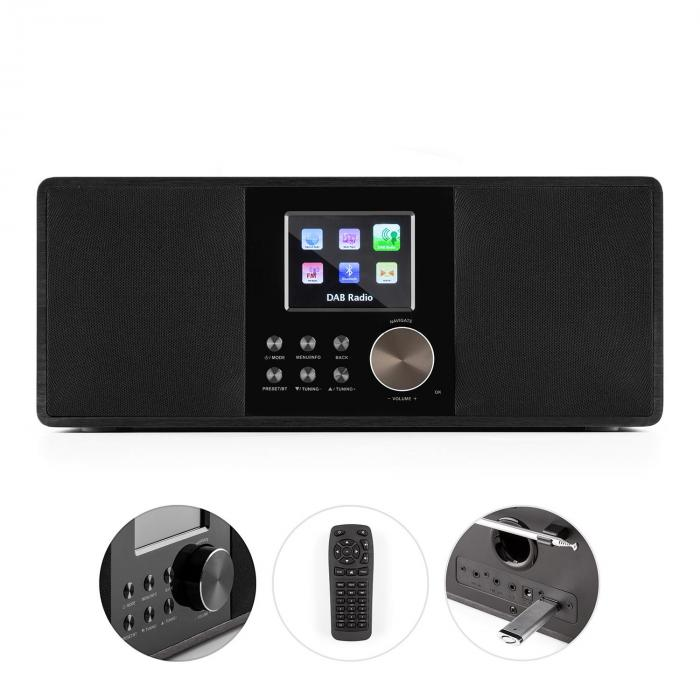 Connect 120 Internetradio Bluetooth WLAN DAB/DAB+ UKW RDS USB AUX