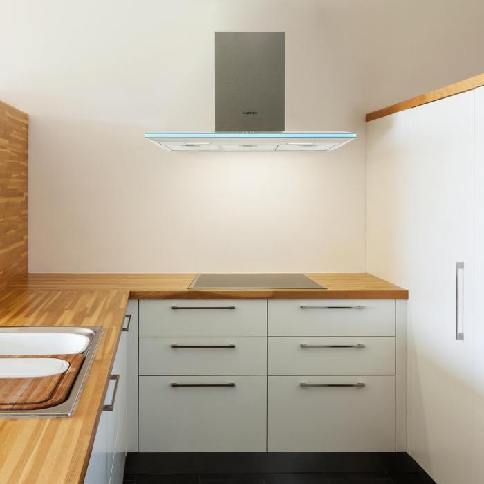 Violetta Bianco liesituuletin 90 cm seinälle asennettava 541 m³/h LED