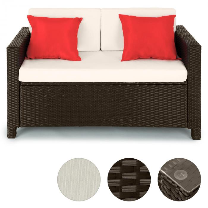 verona gartengarnitur 4 teilig polyrattan braun beige rot braun beige rot online kaufen. Black Bedroom Furniture Sets. Home Design Ideas