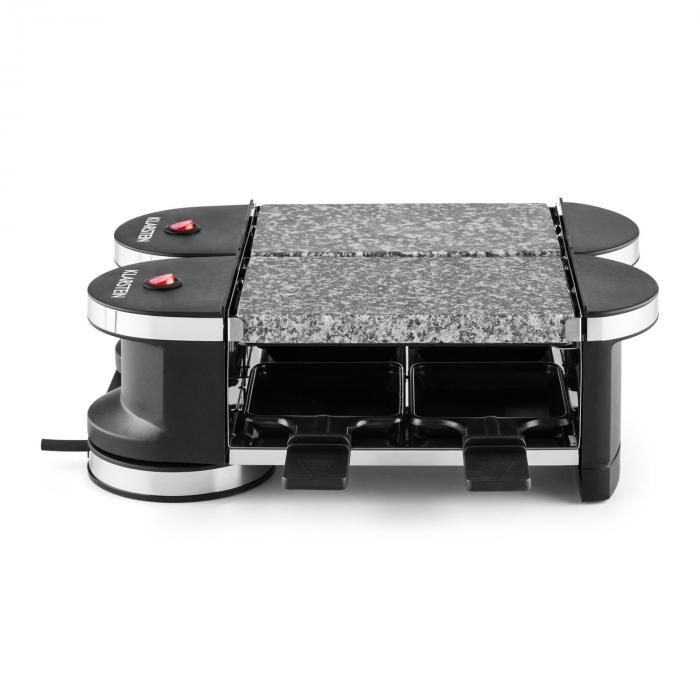 Tenderloin Mini Raclette-Grill 600W Base a 360° 2 Hot Stone