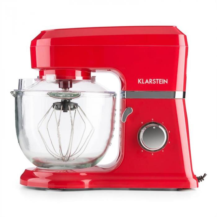 Allegra Rossa Robot da Cucina 800 W 3 l Contenitore in Vetro Rosso
