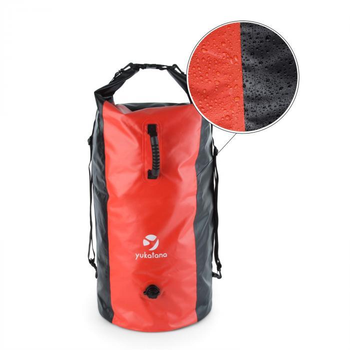Quintono 100 Trekking-Seesack 100 Liter wasserdicht schwarz/rot