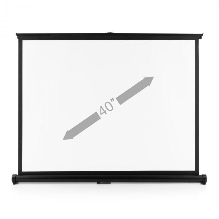 TSVS 40 projektorikangas 4:3 81x62 cm musta kotelo