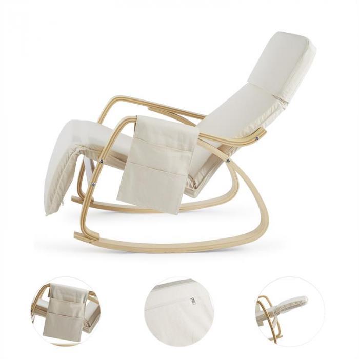 Beutlin cadeira de baloiço 68x90x97cm (LxAxP) em contraplacado de bétula beige