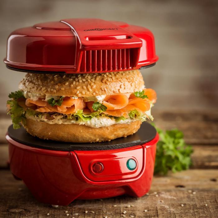 Morning Glory Sandwichmaker Burgermaker 600 W Antihaft rot