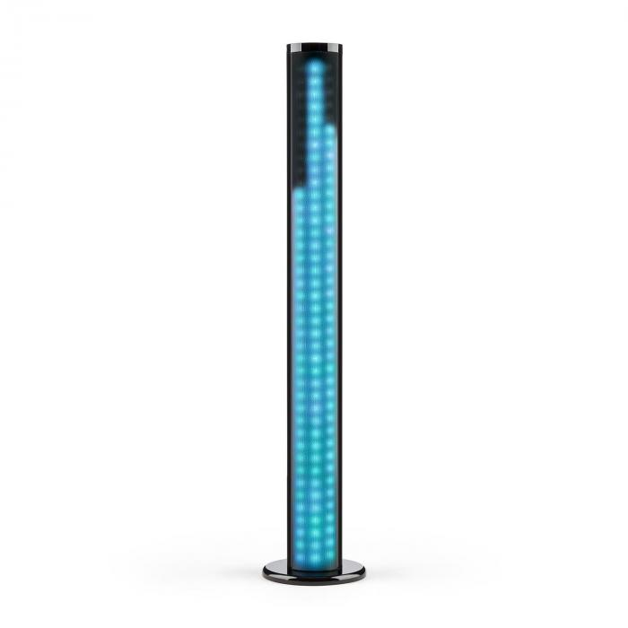 Light Up Tower Speaker Altifalante Vertical 40W Bluetooth LED USB FM Preto