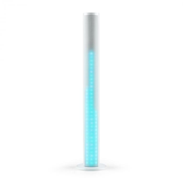 Light Up Tower Speaker 40 W Bluetooth LED USB UKW Fernbedienung weiß