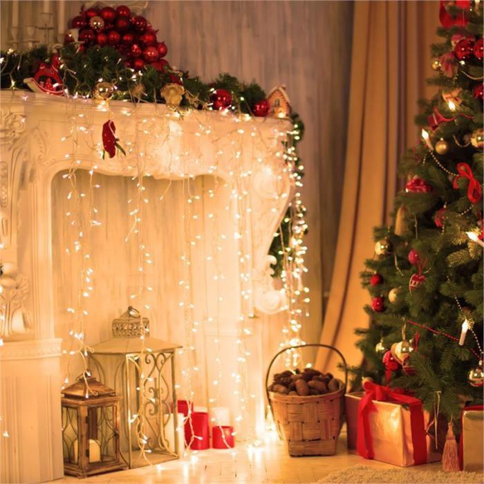 Dreamhouse Classic LED Christmas Lights Icicle 8m 160 LEDs Warm White