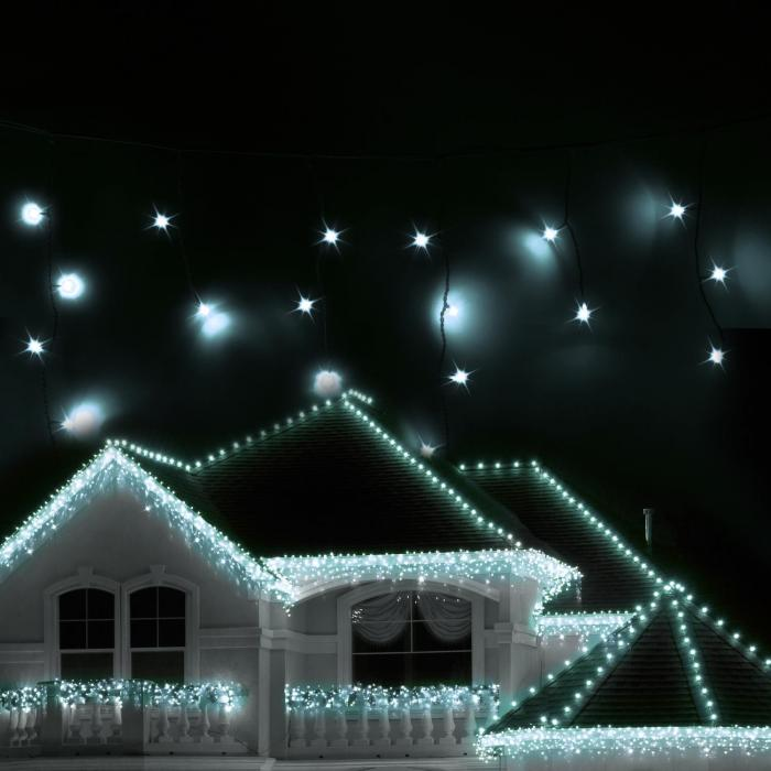 reamhouse classic led christmas lights icicles 16m 320 leds cold white
