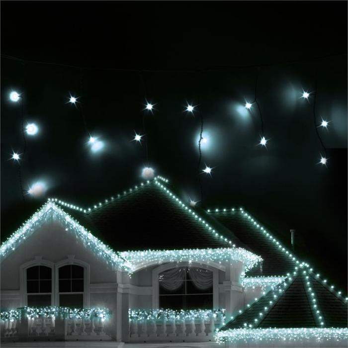 reamhouse Classic LED Christmas lights Icicles 24m 480 LEDs cold-white