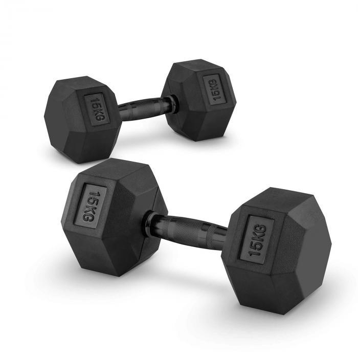 Hexbell Dumbbell Kurzhantel Paar 2 x 15 kg