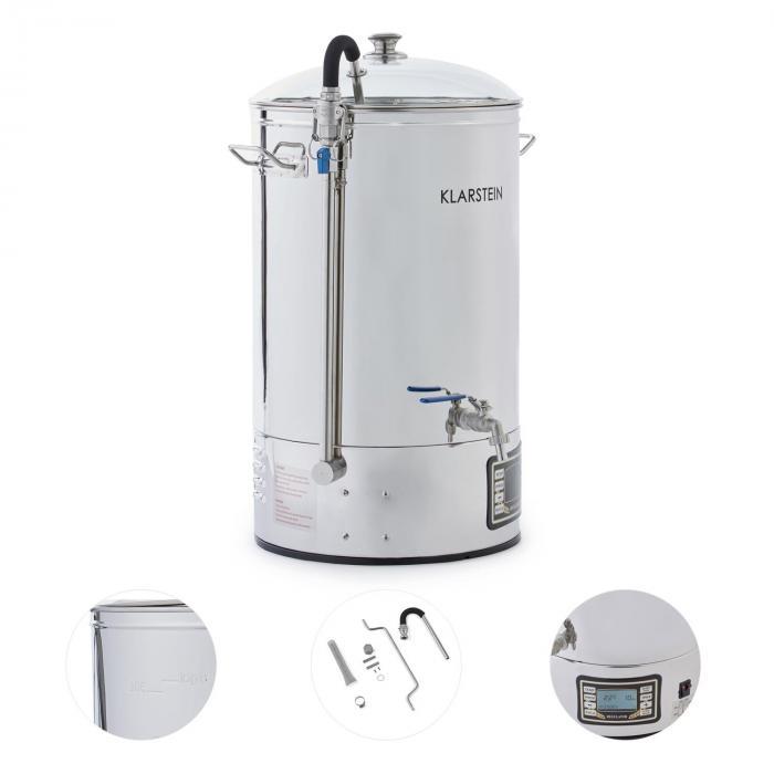 Boccale + refrigeratore a immersione per birra 2500W 30l acciaio inox 304