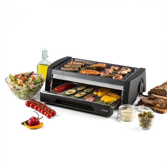 Doppeldecker Forno-Grill Per Barbecue 2-in-1 Antiaderente Acciaio Inox