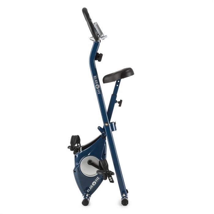 Azura X-Bike Home trainer fino a 100 kg Misuratore di pulsazioni Richiudibile 3 kg blu