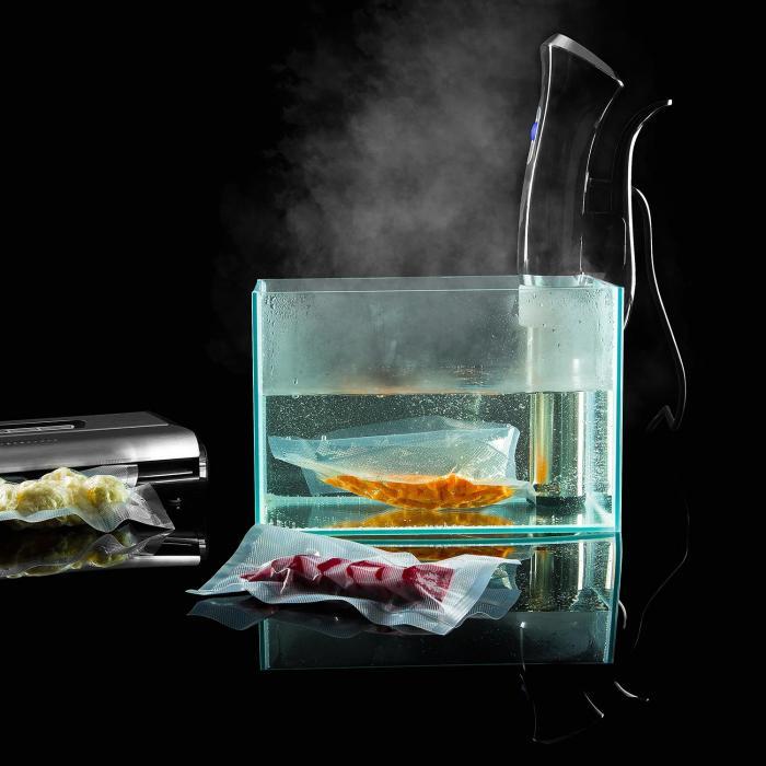 Quickstick Circolatore ad Immersione Sous Vide Cottura Sottovuoto 20 L Inox