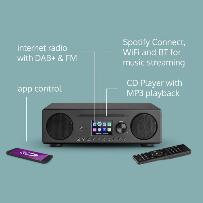 Internet Radio Connect CD Internet Radio Media Player Spotify Connect black