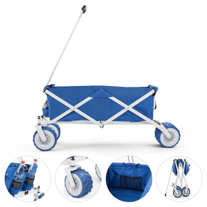 The Blue Carretto A Mano Pieghevole 70kg 90l Blu