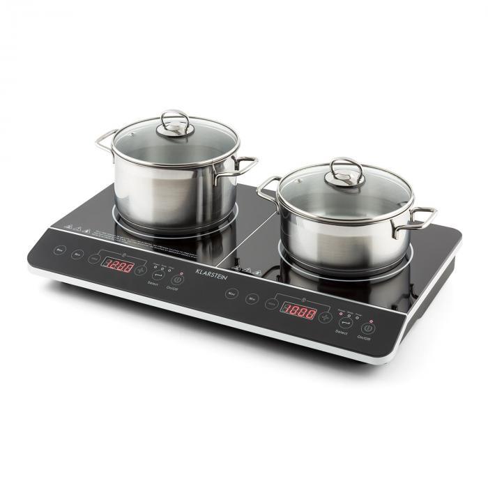 VariCook Slim Doppia Piastra per Cottura Induzione 3500 W Timer 240° C Touch
