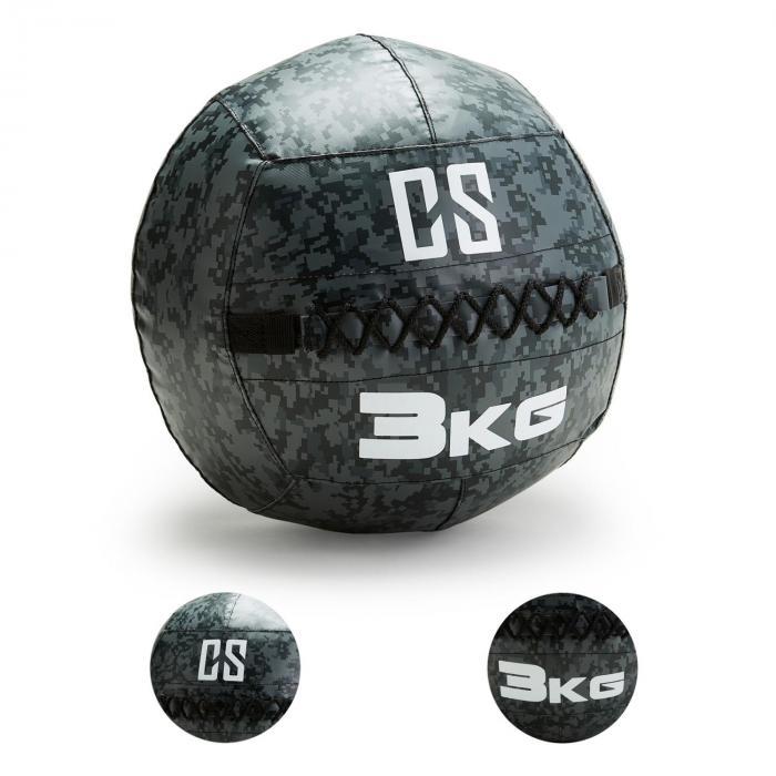 Restricamo Wall Ball Palla Medica 3kg Mimetica
