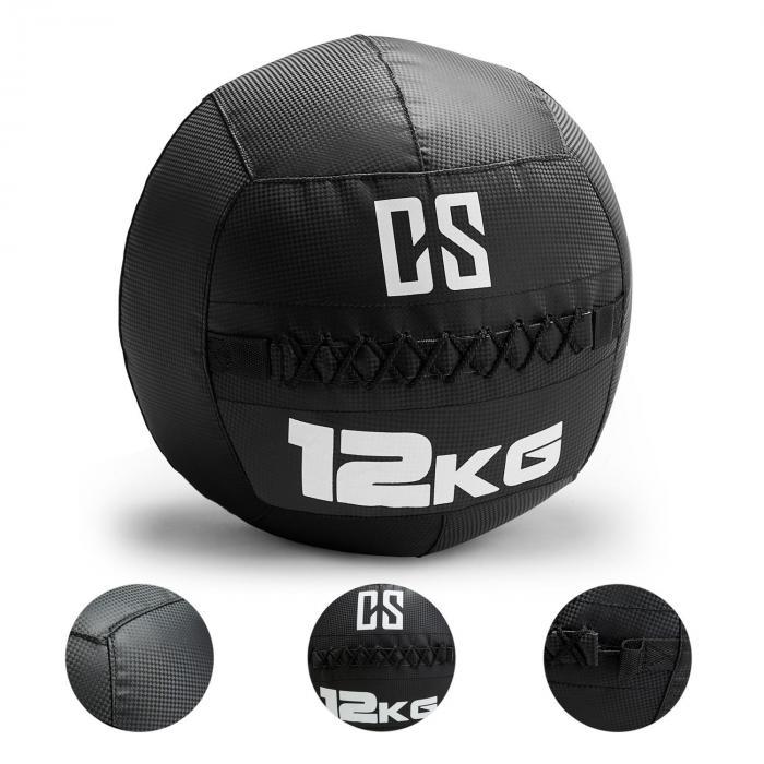 Bravor kuntopallo PVC kaksoisompeleet 12 kg musta