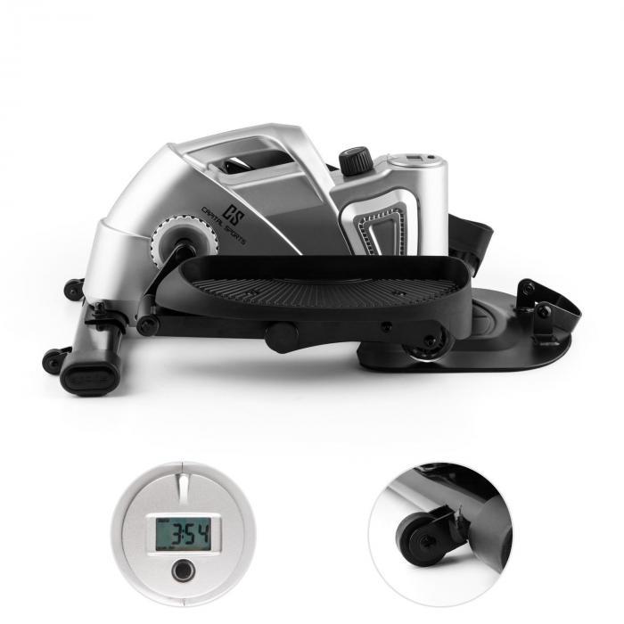 Minioval minikuntopyörä kotiin stepperi elliptinen pyörä hopeanvärinen
