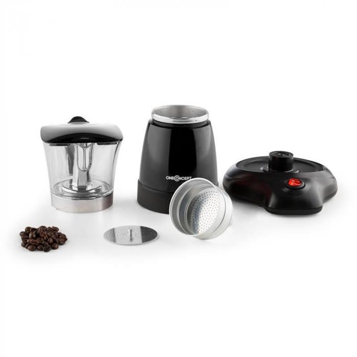 Funpresso Moka Elettrica 6 Tazze 300 ml Nero