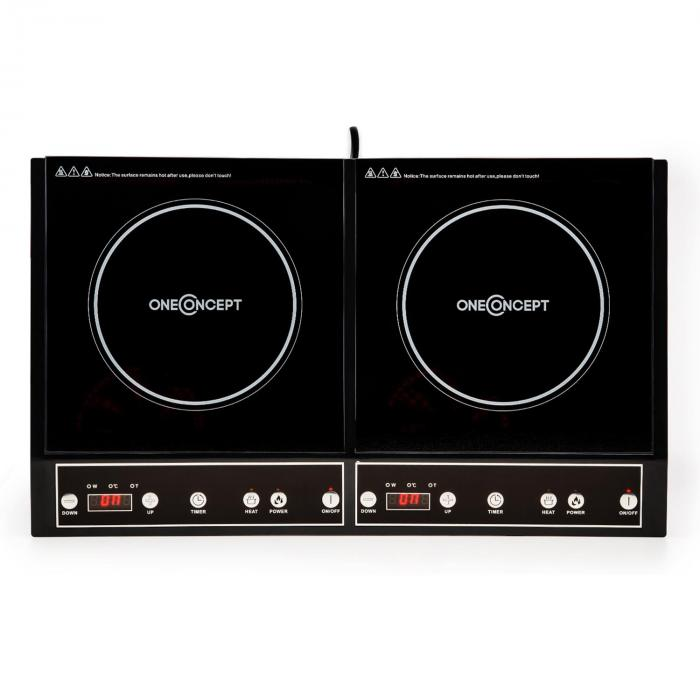 Chefzone Double Induction Hob 3400 W 270° Timer built-in black