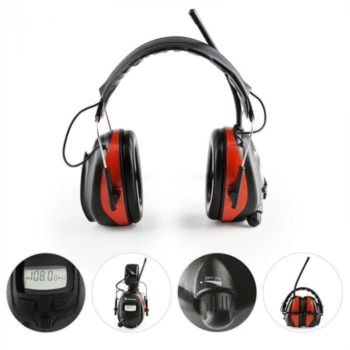 Jackhammer BT Noise-canceling Headphones FM Radio 4.0 Bluetooth Aux-In SNR 28dB