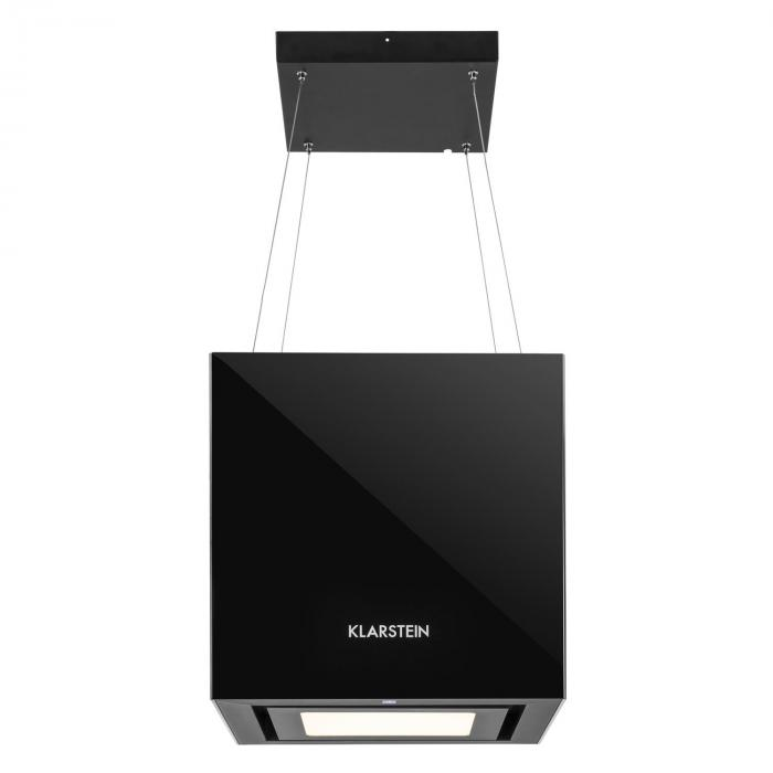 Kronleuchter Okap kuchenny LED szkło lustrzane kolor czarny