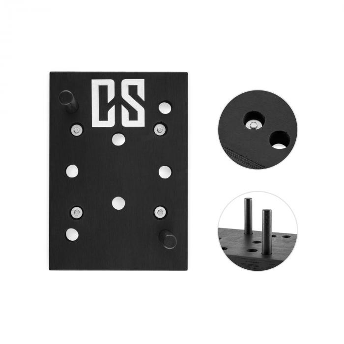 Pegstar Pegboard Pull-up Board Training Board 43x30x3.8 Black