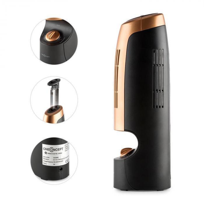 St.-Oberholz 2G mini-ionisaattori & tuuletin musta/kupari