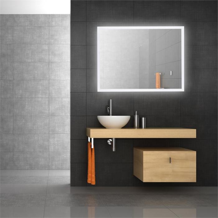 Goldmund specchio da parete con led bagno 80x60 sensore for Tavolo cucina 80x60