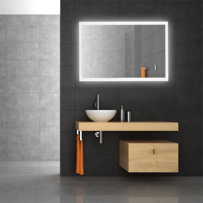 goldmund specchio da parete con led bagno 120x80 sensore